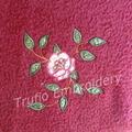 """""""Rambling Rose"""" Burgundy Throw Rug"""