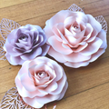 3-Piece Paper Rose/ Nursery Room Decor/ Girl's Room Decor