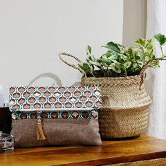 Fold Over Clutch - 'Raindrops'