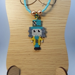 Mad Professor Beaded Pendant Necklace Science
