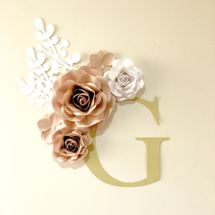 Flower Monogram/ Nursery Decor/ Home Decor/ Wall Decor