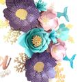 Mermaid-Inspired Paperflowers/ Under The Sea Paperflowers/ Nursery Decor/ Birthd