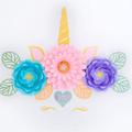 Unicorn-Inspired Paperflower Wall Decor/ Birthday Decor/Nursery Decor/ Girl's Ro
