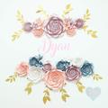 Garden Rose 23-Piece Pink Paperflower Backdrop/ Nursery Decor/ Wall Paperflower/