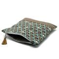 Fold Over Clutch - 'Raindrops'