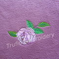"""Paisley and Roses"" Mauve Throw Rug"