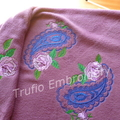 """""""Paisley and Roses"""" Mauve Throw Rug"""