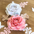 Ela Paperflowers/ Nursery Room Decor/ Paperflower Wall/ Home Decor/ Party Backdr