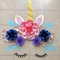 Unicorn Paper Flower Set/ Paperflower Wall Backdrop/ Birthday Girl/ Dessert Tabl