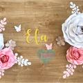 Ela Paperflowers/ Nursery Room Decor/ Paperflower Wall/ Home Decor/ Party Backdr