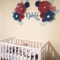 Dakota Set Paperflowers/ Nursery Wall Decor/ Baby Room Decor /Home Decor /Baby S
