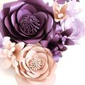Set of 5 Garden Roses with Lillies/ Home Decor/ Nursery Decor/ Events Decor