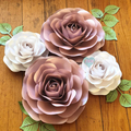 4-Piece Paper Rose Set/ Baby Shower/ Bridal Shower/ Wall Paperflower