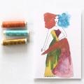 Blank Card, Fashion, Birthday Card, Thank You Card, Thinking Of You Card