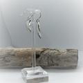 Pierced Earrings, Domed Hammered Sterling Silver Earrings, Drop Earrings,