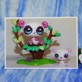 Panda Mini Scene on Blank Card