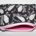 Small Coin Purse in Lovely Owl Fabric