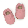 Dusty Pink Soft Sole Baby Shoes