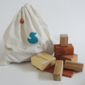 Toys of Wood Mega blocks with calico bag