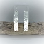 Unique Earrings Hammered Sterling Silver Earrings, Long Drop Handcrafted Gift