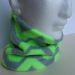Neckwarmer: light-weight polar fleece, multicoloured, slim fit