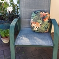 FLORAL ROUND Outdoor/Indoor Cushion  (Includes Insert)