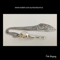 THINKING OF YOU- personalised silver colour words on rice bookmark