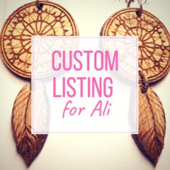 Custom order for Ali: 2x Dream Catchers