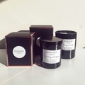 Large scented 100% soy wax black glass tumbler candle, 280g. 15 fragrances