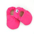 Hot Pink Baby Soft Sole Baby Shoes and Bandana Bib Set