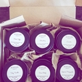 Small scented 100% soy wax travel tin candle. 15 fragrances. 19 hours burn time