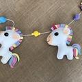 Felt Unicorn & Pom Pom Party Garland Nursery Decor