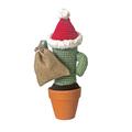 Crochet Santa Cactus with Santa Sack - FREE SHIPPING - Made to order