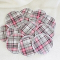 Grey/Pink Cotton Washable & Reusable Eco-Friendly Face Wipes Makeup Remover Pads