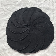 Black Flannelette Facial Rounds Homemade Washable & Reusable Face Wipes Makeup