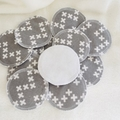 Grey Cross Cotton Washable & Reusable Eco-Friendly Face Wipes Makeup Removers
