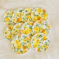 Yellow Floral Cotton Facial Rounds Makeup Removers Homemade Wipes