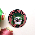 Scaredy Cat Club Embroidered and Iron on Patch