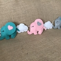 Felt Elephant Garland Bunting Baby Nursery Decoration