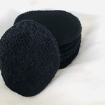 Black Double Sided Reusable Towel Makeup Rounds Eco Friendly Washable