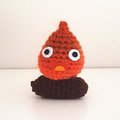 Calcifer crochet plush toy, Studio Ghibli, Howl's Moving Castle