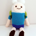 Finn the Human crochet plush, Adventure Time, christmas gift, boy & girl toys,