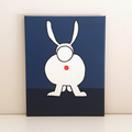 Bobs Burgers Aunt Gayle Rabbit Anus Painting- Made to order and 20 x 25 cm, wall