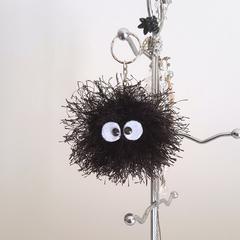Soot sprite crochet plush keyring keychain, Totoro, Spirited Away, Christmas