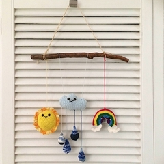 Cute Rustic Weather Mobile for a Baby or Child