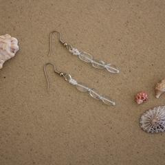 Aquamarine Gemstone Dangly Earrings