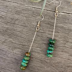 Turquoise Column Earrings