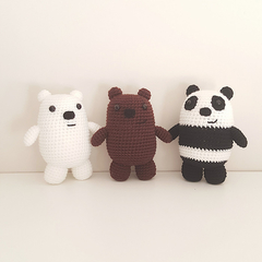 We Bare Bears Crochet plush, bear amigurumi, ice bear, grizz, panda, christmas