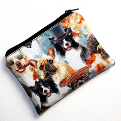 Small Coin Purse in Funny Dog Fabric