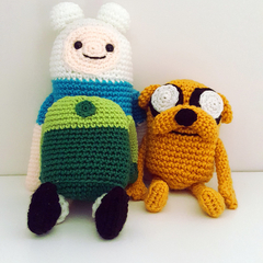 Jake the Dog and Finn the Human Crochet Plush, Adventure Time, Cartoon Network